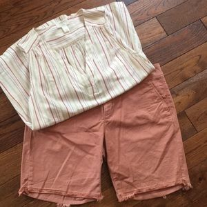 Loft salmon colored shorts size 10
